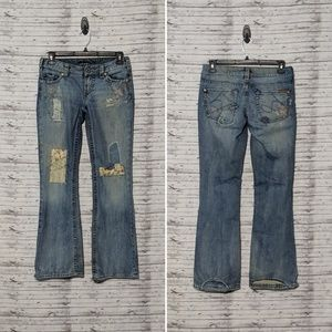 Silver Jeans Sz:29/33 Penny patchwork distressed